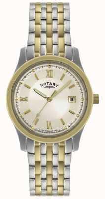 Rotary Gents bicolore orologio bracciale in acciaio GBI0793/09