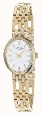 Rotary 9ct oro elite metalli preziosi quadrante ovale LB10090/02
