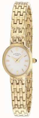Rotary Quadrante ovale con bracciale placcato oro da donna LB02084/02
