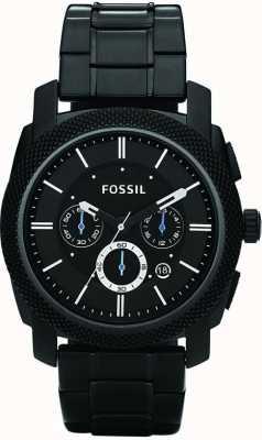 Fossil Mens nero orologio da polso cronografo FS4552