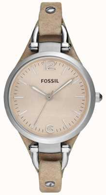 Fossil Cinturino in pelle analogo signore ES2830