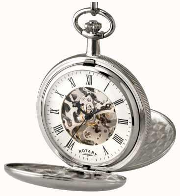 Rotary orologio da tasca scheletro di acciaio inossidabile di Gent MP00726/01