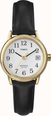 Timex Bianco cinturino in pelle da donna nero T2H341