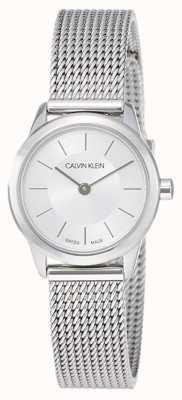 Calvin Klein Minimo da donna | cinturino in maglia di acciaio inossidabile K3M23126
