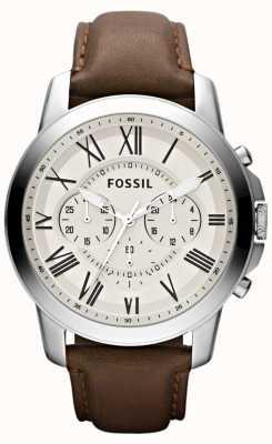 Fossil cinturino in pelle Cronografo Mens FS4735