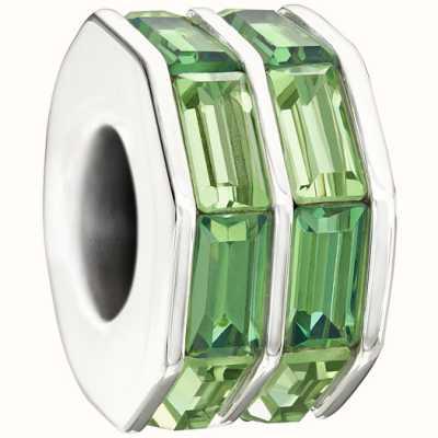Chamilia-swarovski collezione-doppia baguette-verde 2083-0400