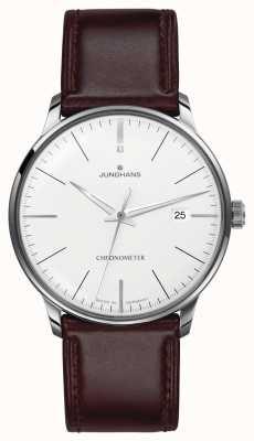 Junghans Cinturino in pelle marrone meister cronometro da uomo 027/4130.00