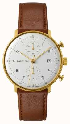 Junghans Cronografo Max Bill cinturino in pelle marrone 027/7800.04