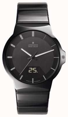 Junghans Forza signori nero orologio in ceramica 018/1133.44