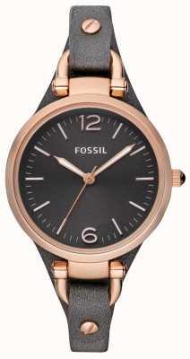 Fossil Orologio analogico cinghia di cuoio delle signore ES3077