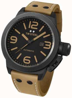 TW Steel Mensa 50 millimetri Orologio cinturino di Gent automatico in pelle marrone TWA203