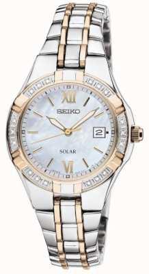 Seiko Orologio da donna orologio solare | cinturino in acciaio inossidabile SUT068P9