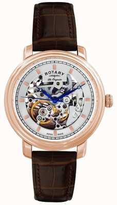 Rotary uomo Les Originales cinturino pelle marrone GS90505/06 orologio