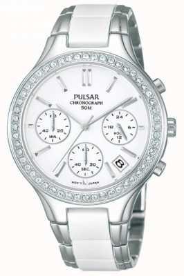 Orologio donna Pulsar bianco ceramica & acciaio inox, PT3305X1