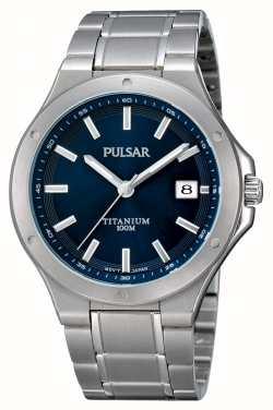 Pulsar Orologio da polso in titanio blu PS9123X1