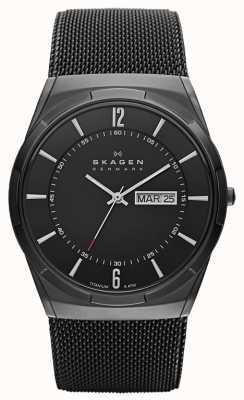 Skagen Mens Aktiv nero orologio quadrante nero titanio ionico-plated SKW6006
