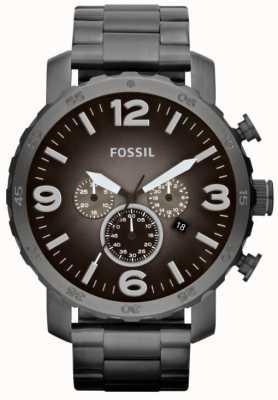 Fossil Cronografo in acciaio inox a fumo nero JR1437