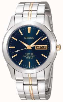 Seiko Midnight quadrante blu oro dettaglio in acciaio inox SGGA61P1