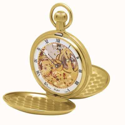 Woodford | scheletro cacciatore | doppio coperchio | piatto d'oro | orologio da tasca | 1014