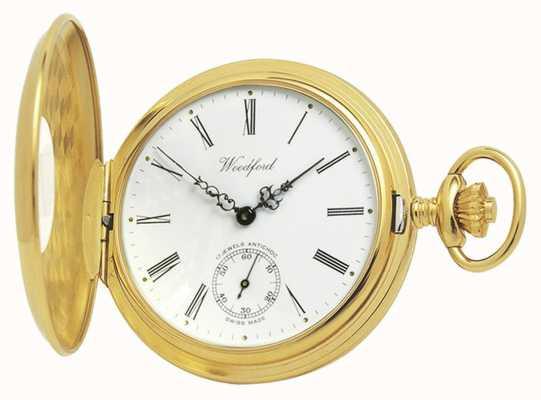 Woodford | mezzo cacciatore | placcato in oro | orologio da tasca | 1015