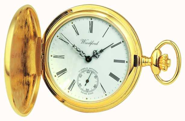 Woodford | cacciatore pieno | placcato in oro | orologio da tasca | 1016