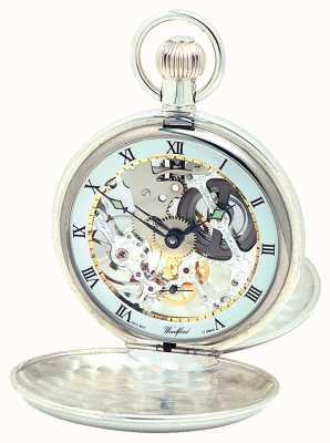 Woodford Argento coperchio pocketwatch doppia 1065