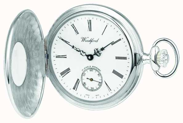 Woodford Argento pocketwatch 1/2 cacciatore 1067