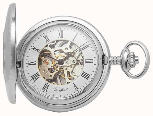 Woodford | mezzo cacciatore | cromato | scheletro | orologio da tasca | 1020