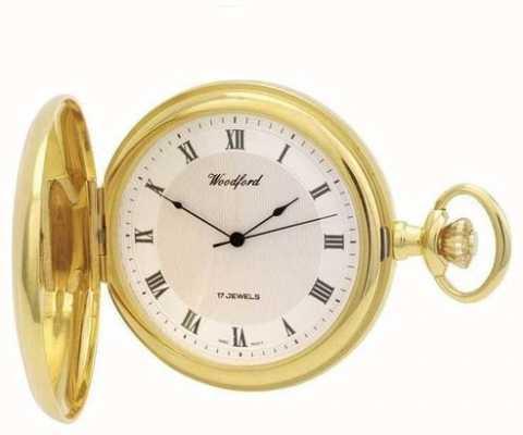 Woodford | cacciatore pieno | placcato in oro | orologio da tasca | 1028