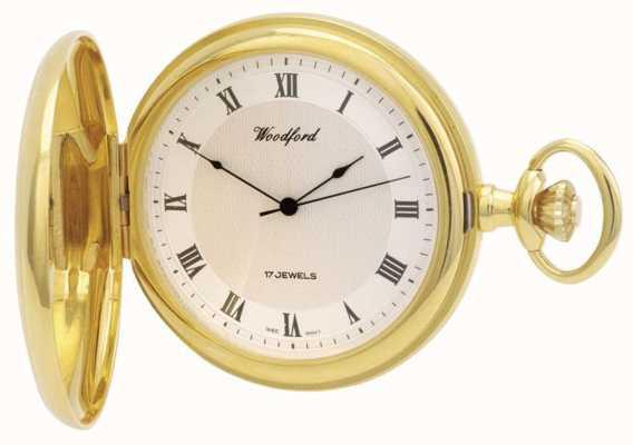 Woodford | cacciatore completo | placcato oro | orologio da tasca | 1028