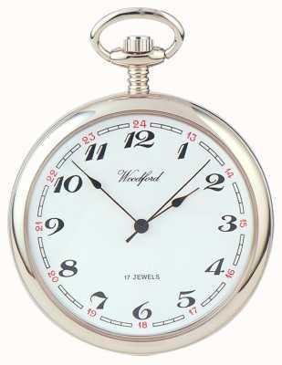 Woodford | faccia aperta | cromato | orologio da tasca | 1023