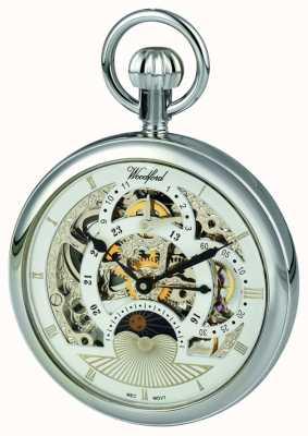 Woodford Chrome, quadrante scheletrato, doppio fuso orario orologio da tasca 1050