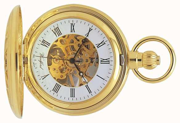 Woodford | scheletro cacciatore | placcato in oro ritagliato | orologio da tasca | 1029