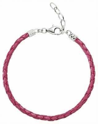 Chamilia Un formato colore rosa metallizzato braccialetto di cuoio intrecciato 1030-0112