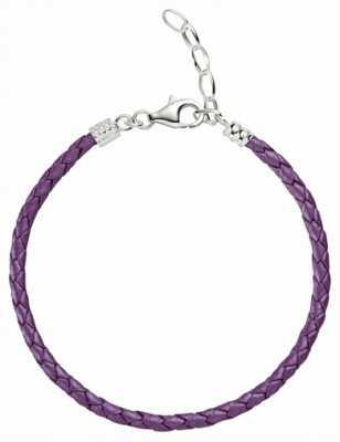 Chamilia Taglia unica viola metallizzato cinturino in pelle intrecciata 1030-0113