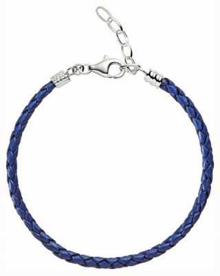 Chamilia Un formato blu metallizzato cinturino in pelle intrecciata 1030-0111