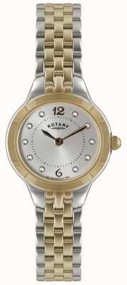 Rotary orologio a due signore di tono con il set di pietra LB02762/59