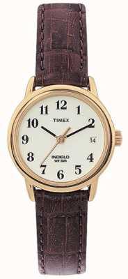 Timex Signore marrone naturale semplice orologio lettore T20071