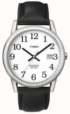 Timex Mens bianco nero orologio lettore di facile T2H281