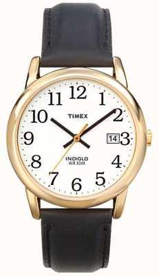 Timex Mens bianco nero orologio lettore facile T2H291