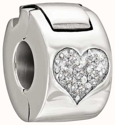 Chamilia Argento con pietra - blocco cardiaco gioiello - di cristallo 1430-0008