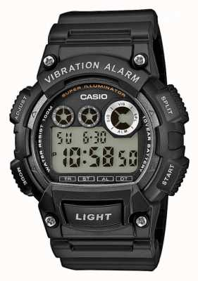 Casio Mens Watch allarme a vibrazione cinturino in resina nera W-735H-1AVEF