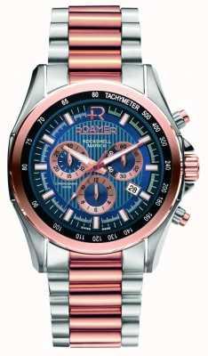 Roamer Mens rockshell in acciaio inox e di rosa orologio d'oro 220837494520