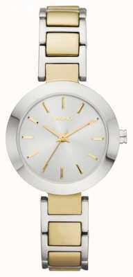 DKNY Bicolore, quadrante rotondo, orologio cinturino bracciale Ladies ' NY2401