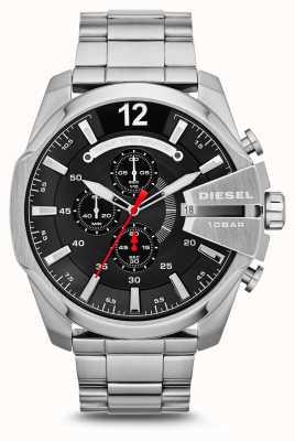 Diesel Mens Watch quadrante nero in acciaio inox mega capo DZ4308