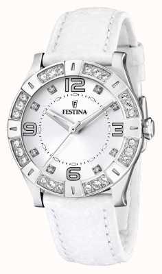 Festina donna acciaio inox, set cristallo, bianco F16537/1 orologio
