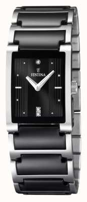 Festina donna nero ceramica, acciaio inox, F16536/2 orologio