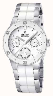 Festina Ceramica bianca e acciaio inox, orologio multi-linea Ladies ' F16530/1