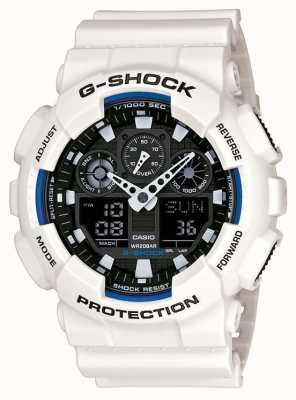 Casio Mens g scossa orologio resina bianca GA-100B-7AER