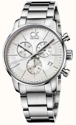 Calvin Klein città Mens del cronografo in acciaio inox K2G27146